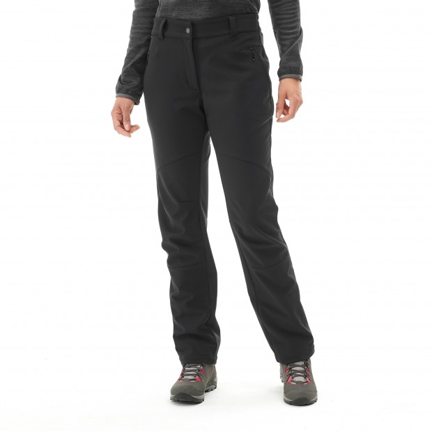Warm pant - women LD TRACK SOFTSHELL PANTS Black Lafuma 2