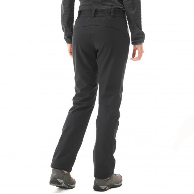 Warm pant - women LD TRACK SOFTSHELL PANTS Black Lafuma 3