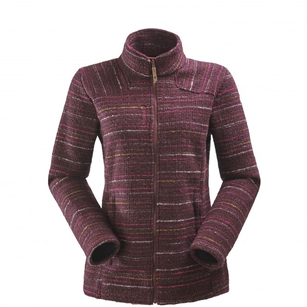 Mix and match fleecejacket - women LD STATEN F-ZIP Red Lafuma