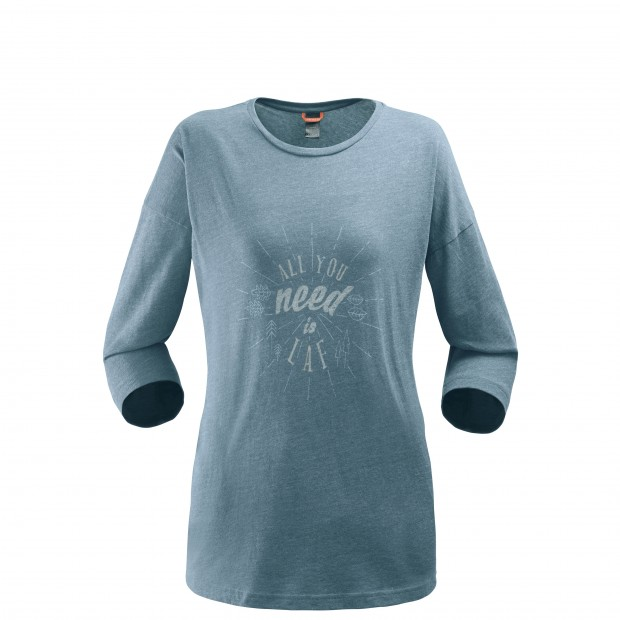 3/4 sleeves t-shirt - women LD ROCK TEE Grey Lafuma
