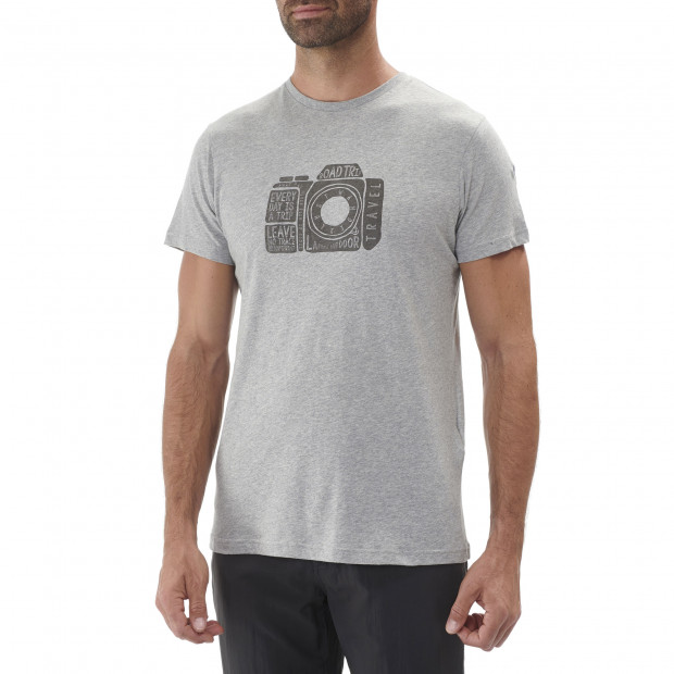 Cotton tee-shirt - men ADVENTURE TEE Kaki Lafuma 2