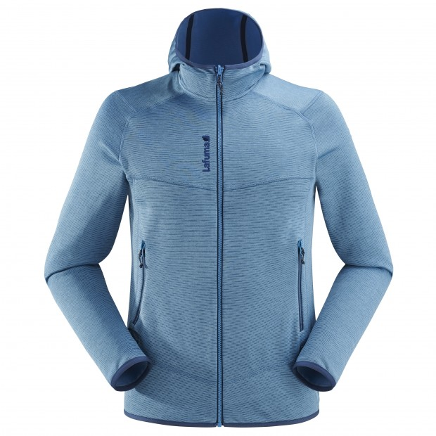 Mix&match fleecejacket - Men SHIFT HOODIE Blue Lafuma