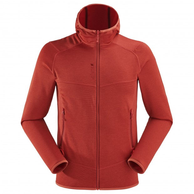 Mix&match fleecejacket - Men SHIFT HOODIE Red Lafuma