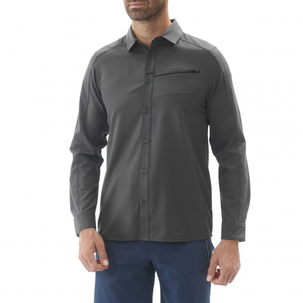 Long sleeves shirt - Men SKIM SHIRT LS Grey Lafuma 2