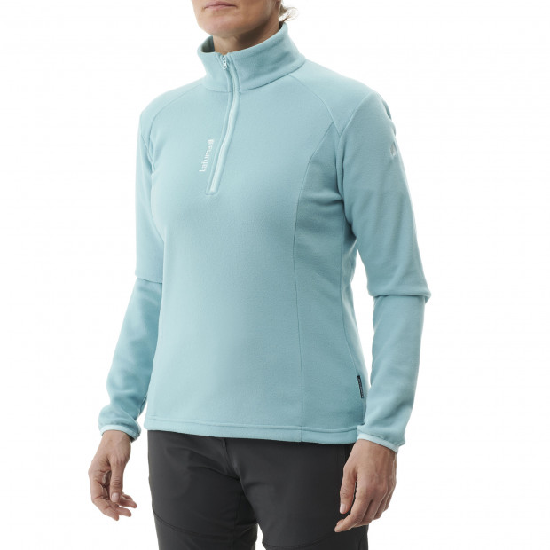 Lightweight fleecejacket - women ACCESS MICRO T-ZIP W Turquoise Lafuma 2