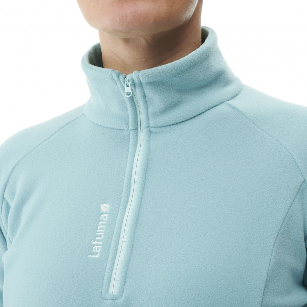 Lightweight fleecejacket - women ACCESS MICRO T-ZIP W Turquoise Lafuma 4