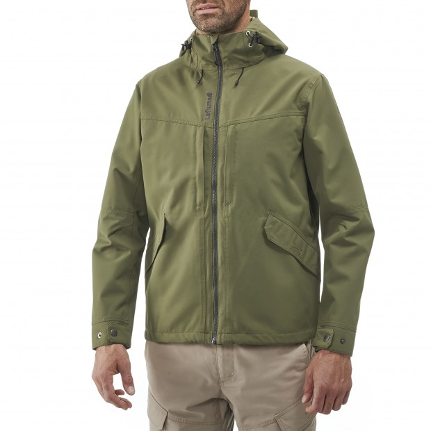 Waterproof jacket - men RUCK ZIP-IN JKT M KHAKI Lafuma 2