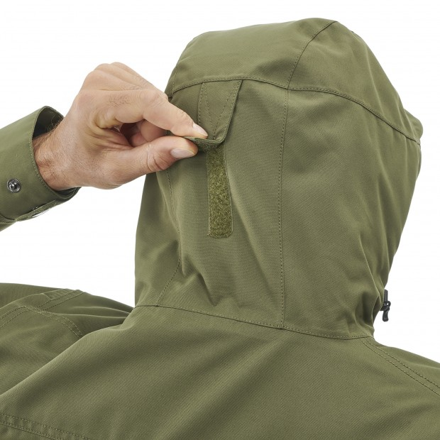 Waterproof jacket - men RUCK ZIP-IN JKT M KHAKI Lafuma 4