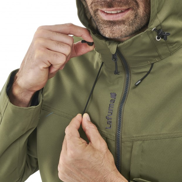 Waterproof jacket - men RUCK ZIP-IN JKT M BLACK Lafuma 5
