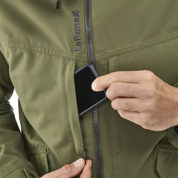 Waterproof jacket - men RUCK ZIP-IN JKT M KHAKI Lafuma 6