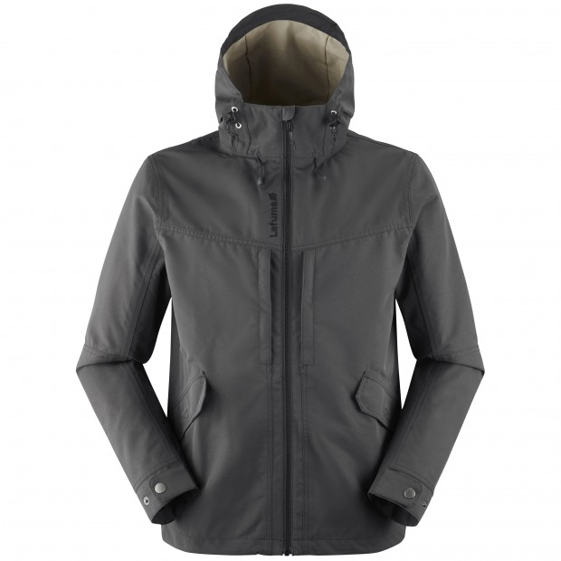 Waterproof jacket - men RUCK ZIP-IN JKT M BLACK Lafuma