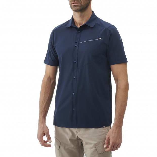 Short sleeves shirt - Men SKIM SHIRT SS M BLUE Lafuma 2