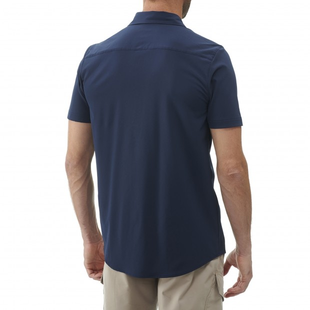 Short sleeves shirt - Men SKIM SHIRT SS M BLUE Lafuma 3