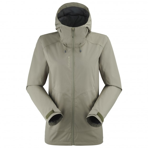 Waterproof jacket - Women SKIM ZIP-IN JKT W KHAKI Lafuma