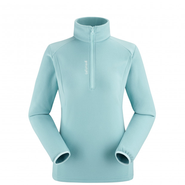 Lightweight fleecejacket - women ACCESS MICRO T-ZIP W Turquoise Lafuma