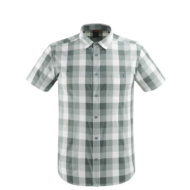 Short sleeves shirt - Men COMPASS SHIRT Grey Lafuma