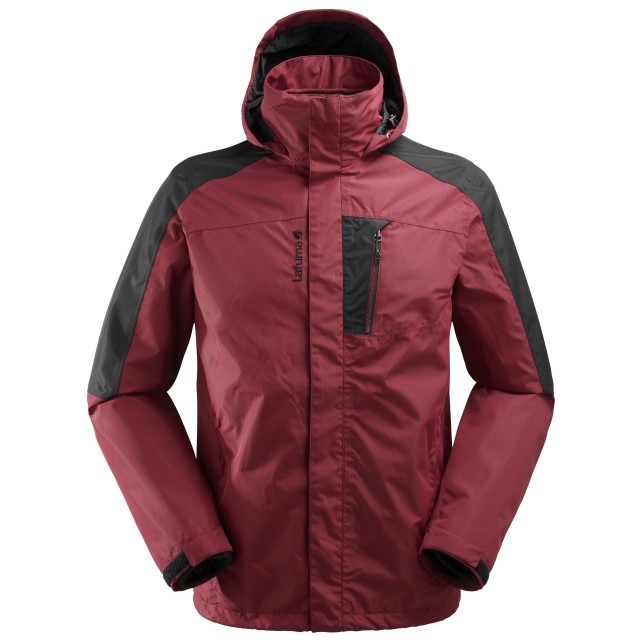 Mix and match jacket - men ACCESS 3in1 FLEECE JKT Red Lafuma