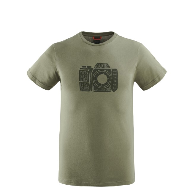 Cotton tee-shirt - men ADVENTURE TEE Kaki Lafuma