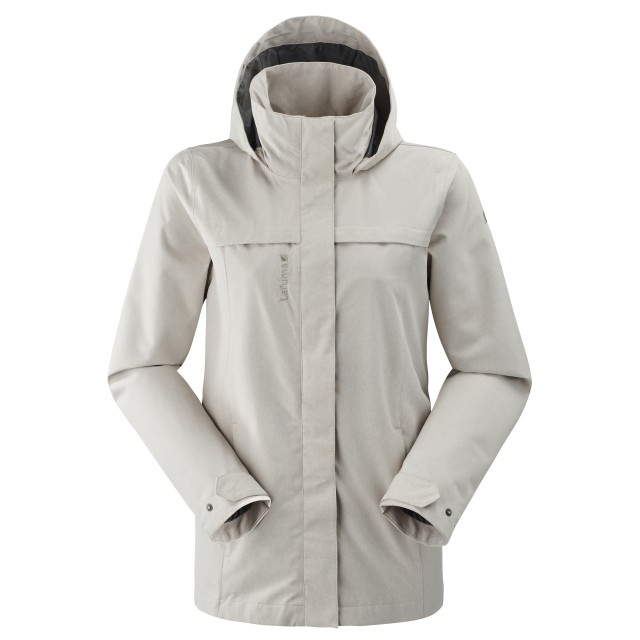 Waterproof jacket - Women TRAVELLER ZIP-IN JKT W Beige Lafuma