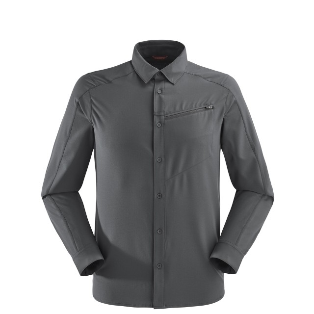 Long sleeves shirt - Men SKIM SHIRT LS Grey Lafuma