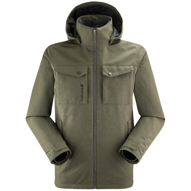 3 in 1 Waterproof Jacket - Men - KAKI CALDO 3in1 HIGHLOFT JKT M Lafuma